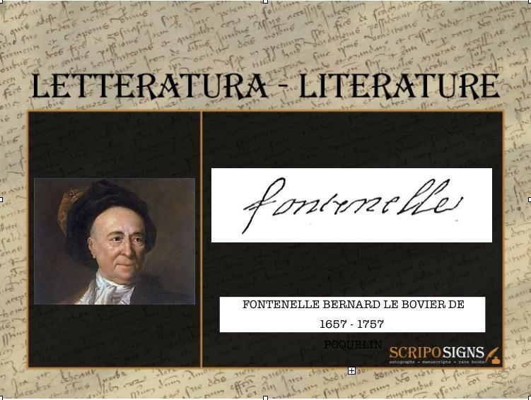 De Fontenelle Bernard Le Bovier