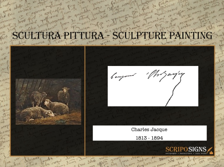 Autografo • Firma Charles Jacque • Scriposigns