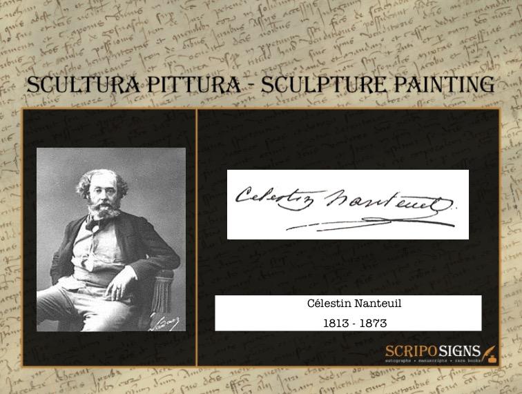 Autografo • Firma Célestin Nanteuil • Scriposigns