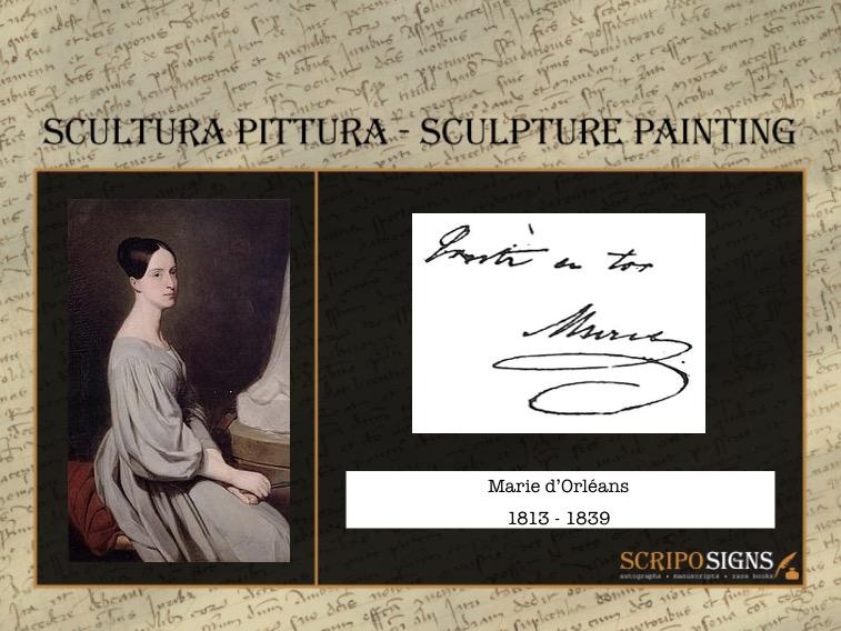 Autografo • Firma Marie d'Orléans • Scriposigns